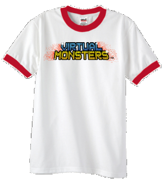 Virtual Monsters Red Collar T-Shirt